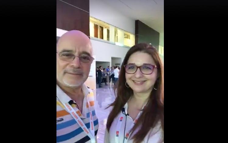Con Maria Alejandra Moreno de Globo desde Mip...