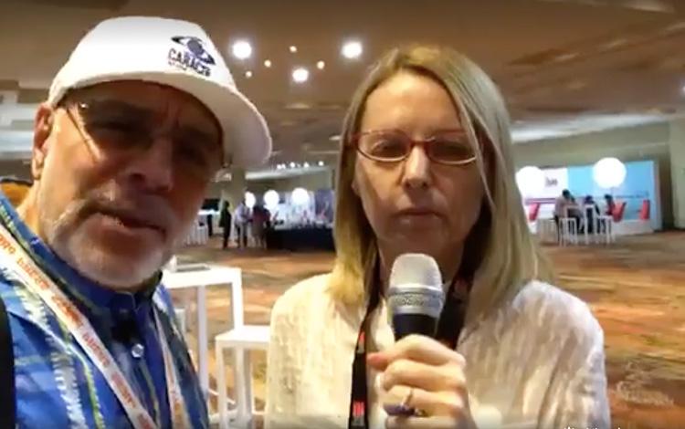 Con Michela Giorelli VP de Producción y Desar...