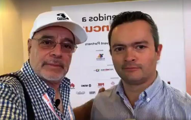 Con Juan Pablo Morales de Creativo en MipCanc...