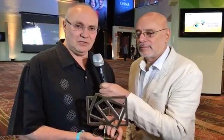 Con Eric Jürgensen CEO de América TV del Perú...