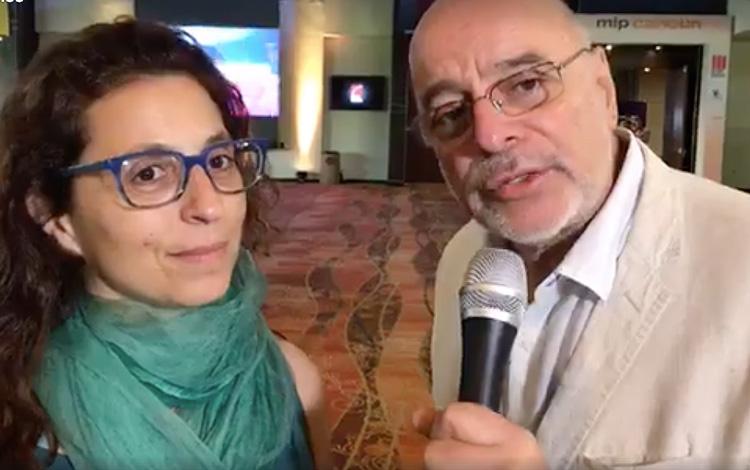 Con Fernanda Rotondaro directora del Canal En...