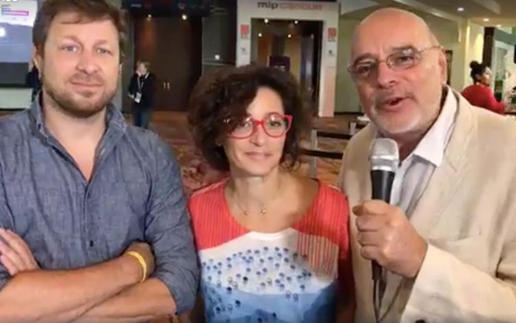 Con Coty Cagliolo de FremantleMedia y Agustin...