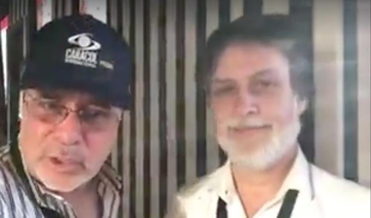 Con Sebastián Freund productor chileno con su...