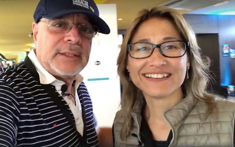 Con Nathalie Hendrickx productora peruana y p...