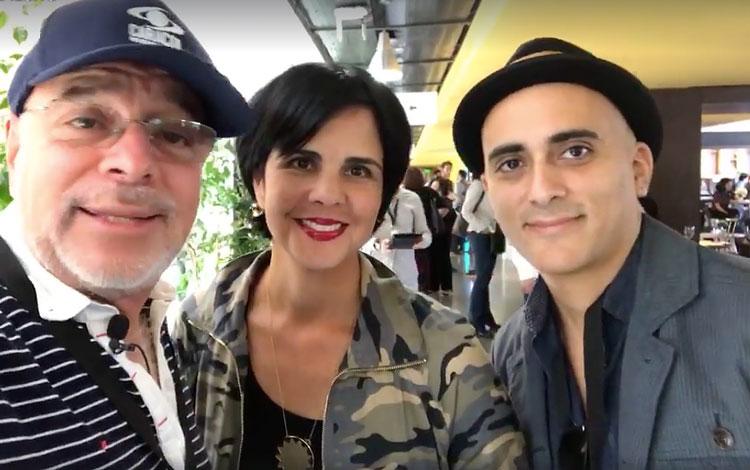 Con Anabella Sosa de Upstairs y Rodrigo Pérez...