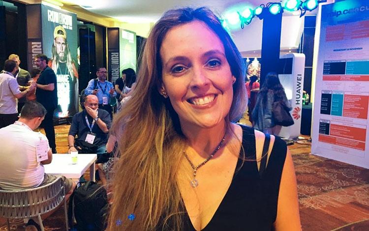con Rosalind Rotundo en Mip Cancún
