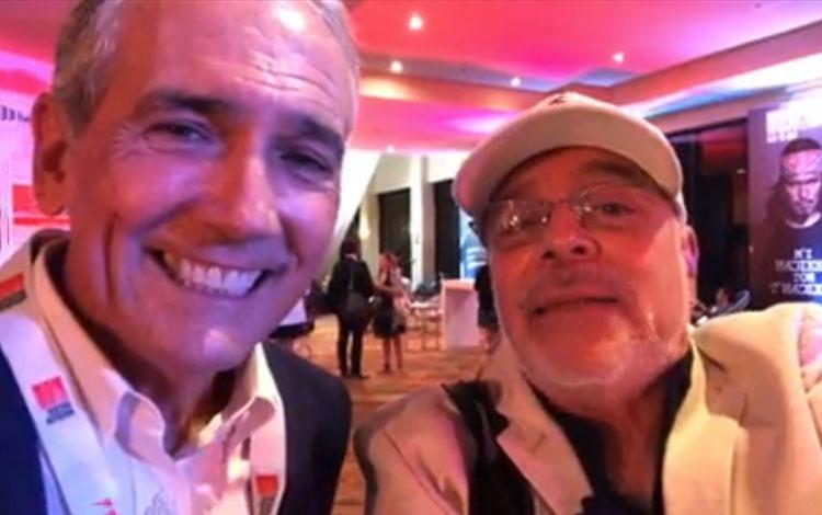 Con Jim McNamara desde MipCancún