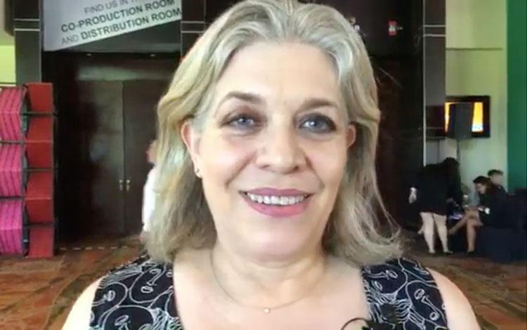 Con Ana Celia Urquidi de Hemisphere
