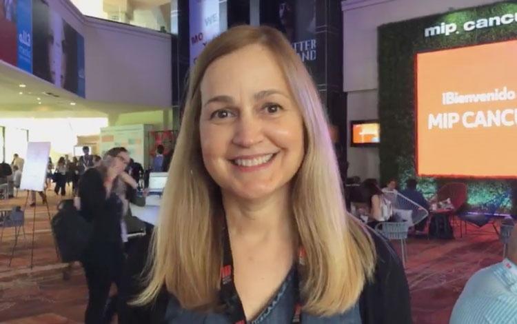 Con Isabel Quintero