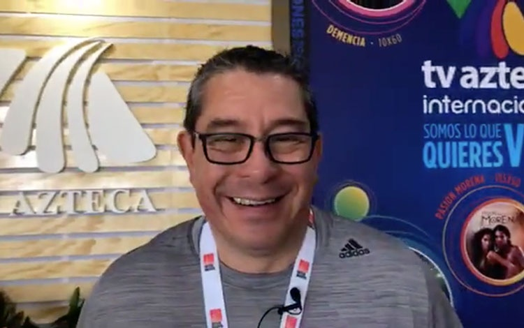 Con Ramón Salomón de TV Azteca Internacional