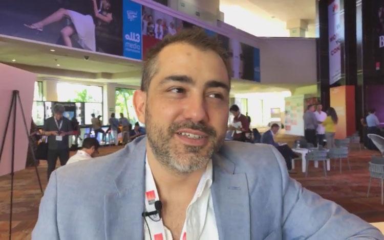 Con Sebastián Mellino de OnceLoops desde MipC...