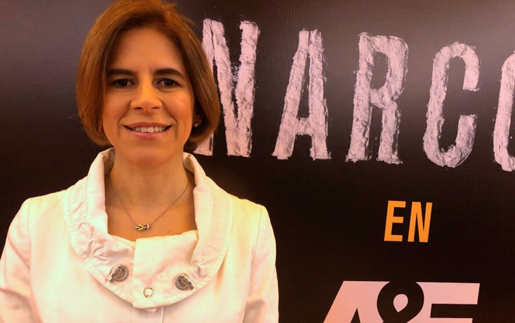 Con Carmen Larios, VP sénior de A&E Latin...