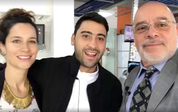 Con Variel Sánchez actor colombiano ganador d...