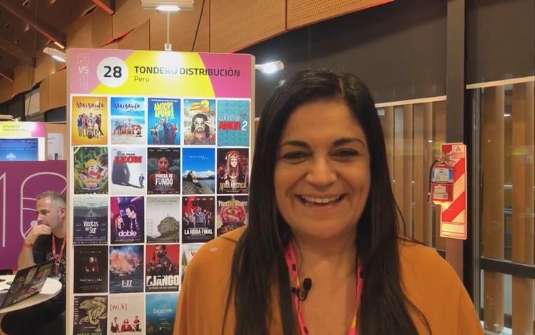 Con Cecilia Gómez de la Torre de Tondero Dist...