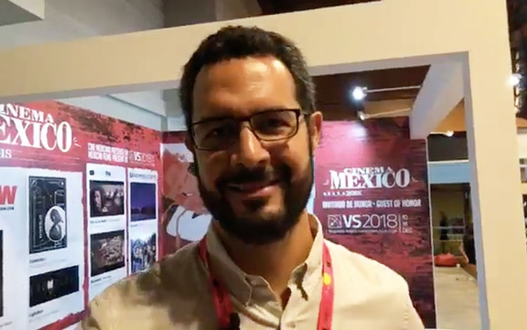 Con José Miguel Álvarez de IMCINE de México d...