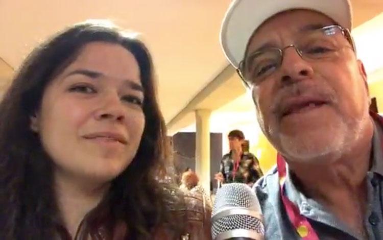 Con la productora mexicana Alejandra García e...