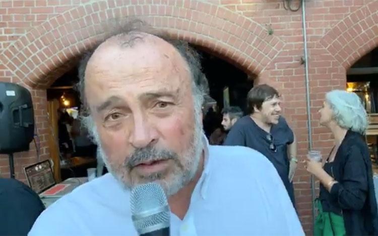 Con el cineasta chileno Gonzalo Justiniano de...