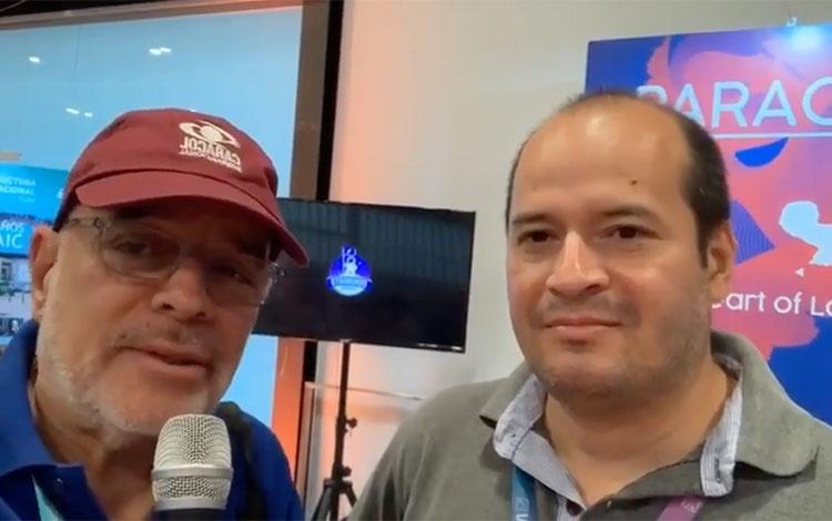 con Carlos Giménez, periodista promotor del a...