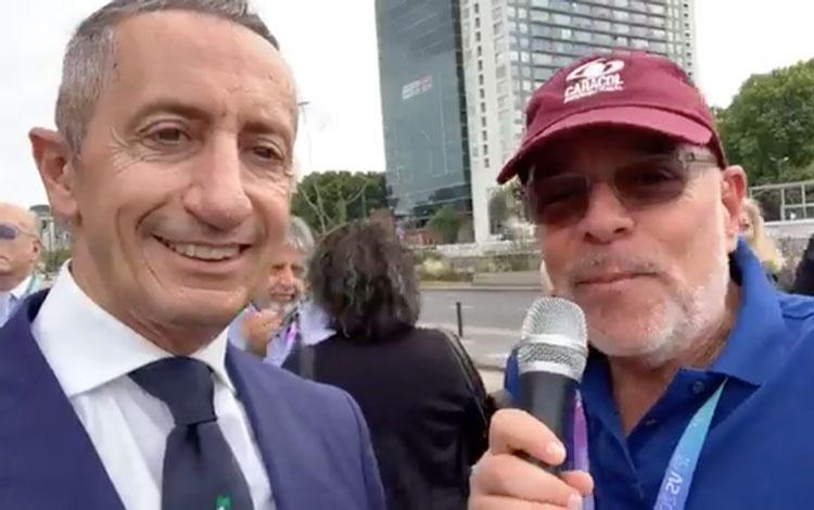 Con Roberto Stabile de Italia